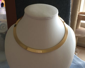 Gold plated copper choker