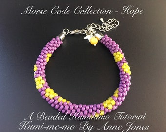 Morse Code Collection - Hope - Beaded Kumihimo Tutorial