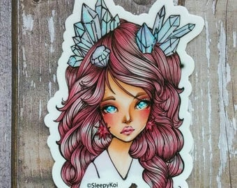 Crystal - 3 Inch Vinyl Sticker Inspired by Jem from the 80s TV cartoon, Jem and the Holograms. Planner Accessories Traveller's Notebook Gift