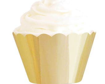 Gold Cupcake Liners,Gold Bakeware, Gold Cupcakes, Cupcakes Liners, Gold Party Supplies, Gold Foil Cupcakes, Baking Accessories, Gold Party