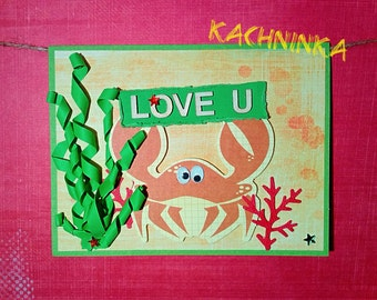 Fishing for Love, greeting card