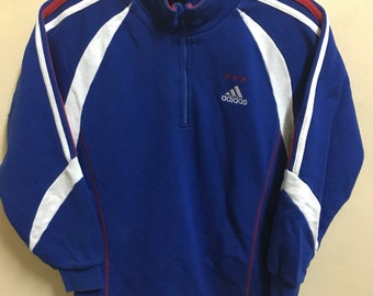 Vintage 90's Adidas 3 Stripes Sport Classic Design Skate Sweat Shirt Sweater Varsity Jacket Size S #A639
