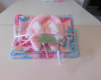 Baby Girl Receiving Blanket Gift Set