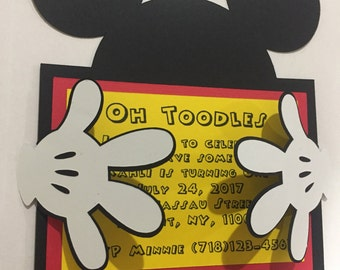 Mickey Mouse invitation /Baby Shower/Birthday
