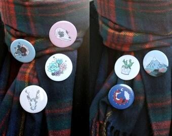 Badge illustrated