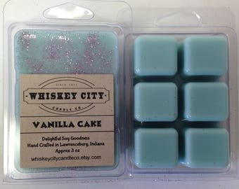 Birthday Cake Wax Melts Clamshell Bar Highly Scented 6 cavity