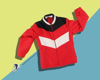 Vintage 70s Ski Jacket • Red Ski Puffer Jacket • Retro Sportswear Ski Coat • Old School Made in Finland • M Medium L Large Oversize Unisex