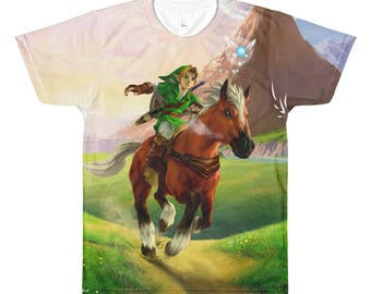 The Legend of Zelda: Ocarina of Time Link and Epona Sublimated T-shirt