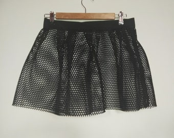 Rock Couture Miniskirt in perforated scuba - For Alternative Women,  scuba miniskirt, mesh miniskirt, black miniskirt, perforated miniskirt