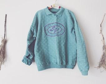 Oversized Pastel Teal Sweatshirt