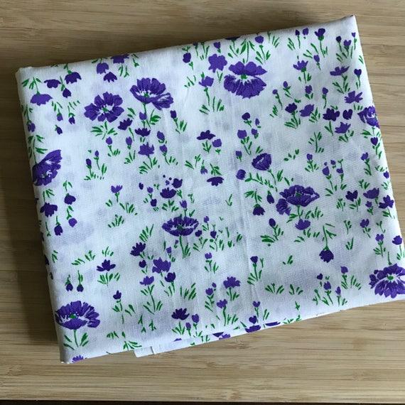 Furoshiki Gift Wrapping Cloth - Large Japanese Cotton Furoshiki - Vintage Floral Design by Kendo Girl