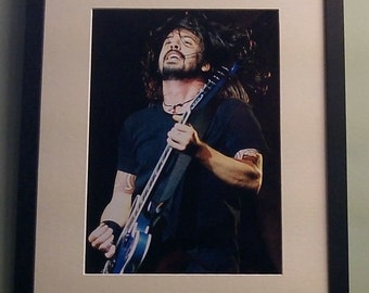 Dave Grohl (Foo Fighters) framed 8' x 12' photo