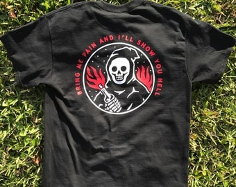 "Pin House X Catsneeze Limited Edition ""Bring Me Pain"" Custom Screen-Printed T-Shirt"