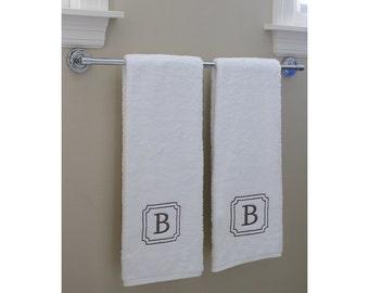 100 % USA Grown | 2 Piece Bath Towel Set | Monogram Towels | Personalized Orders | Gift Ideas | Decorative | Luxury Towels | Soft & Durable