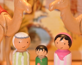 Peg dolls - Sahara people-wooden toys