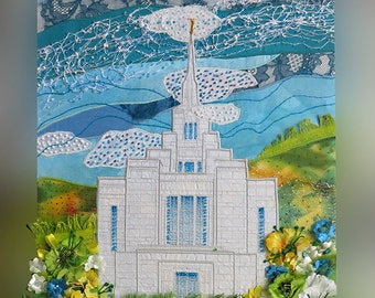 Kyiv LDS Temple 12x18 inch