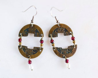 Vintage Chinese Coin Earrings