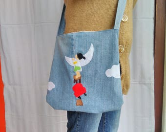 Upcycled Jeans Bag Little Girl