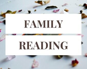 Family Spread -- 1 Card Tarot Reading -- Photo of Spread Included