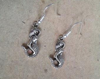 Mermaid Earrings silver