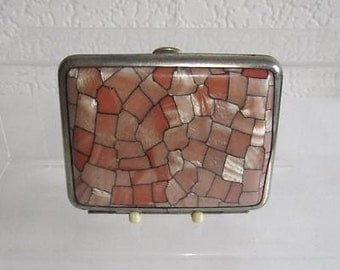 Vintage Cigarette Case - Faux Mother of Pearl - 1930's