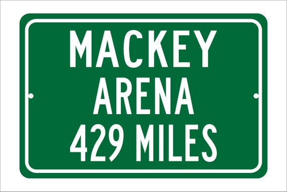 Custom College Highway Distance Sign to Mackey Arena | Home of the Purdue Boilermakers | Boilermakers Basketball | Purdue |