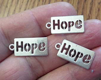 Set of 10 HOPE charms  , Jewelry Making  /U18