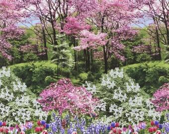 Springtime in the Woods ,Botanical Gardens, Timeless Treasures