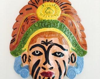 Vintage Face Mask Wall Hanging Mayan