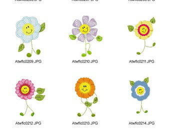 Sticky-Flowers ( 10 Machine Embroidery Designs from ATW )