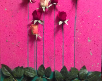 3D Rose Garden Wall Art