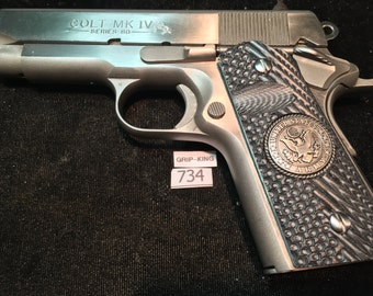 Compact size 1911 grips,Colt Officers model,Defenders, Kimber CDP,Sig,Springfield,C-7,Para,Wilson,S&W,G10 Army, tactical,# 734