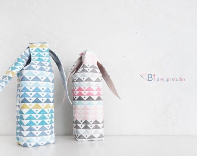 Water Bottle Holder, Canvas Drink Holder, Water Bottle Bag, Drink Carrier, Rabbit Bag, Gift For Her, School Bottle Bag, Handmade