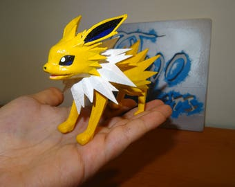 Jolteon, pokemon 3d printed and hand-painted