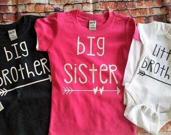 Big brother shirt Big Sister shirt  and little brother/ sister bodysuit