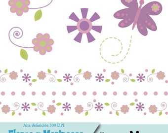 Images PNG flowers and butterflies - Clipart Flower and butterfly