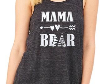 Mama Bear Flowy Racerback Tank