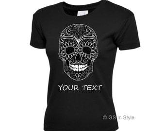 Personalised premium quality ladies halloween t-shirt