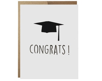 Graduation Congratulations Card Congrats