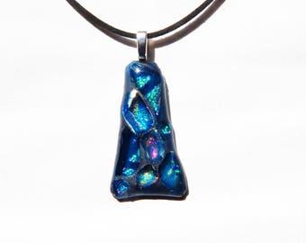 Mosaic Magic Fused Dichroic Glass Pendant