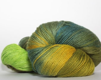 Fiber Lady Makicot, color Summer Day   lime green, hunter green
