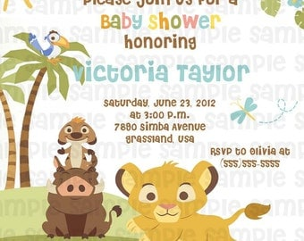 nala baby shower  etsy, invitation samples