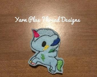 Lightening Unicorn Feltie Embroidery Design