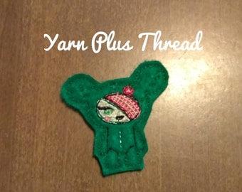 Cactus Feltie Embroidery Design