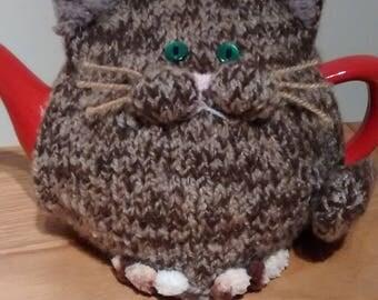 Tabby Cat tea cosy.