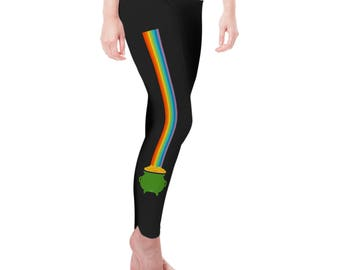Pot of Gold at the End of the Rainbow Women's Leggings