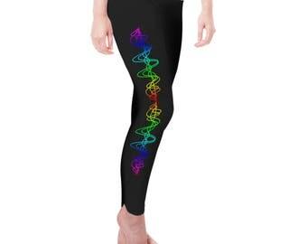 Rainbow Squiggle Women's Leggings