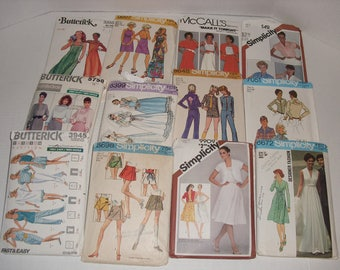 6)  Twelve Misses Sewing Patterns.  Butterick.  McCall's.  Simplicity.  Evening Gown.  Scooter Skirts.  Dresses.  Blouses.  Shorts.