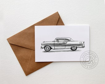 Chevy Belair Art Chevy Belair Decor Chevy Art Chevy Belair Car Art Car Print Car Lover Gift Chevy Transportation Decor Classic Car Decor