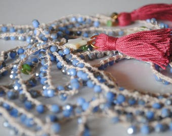 Versatile, beaded, long, necklace.